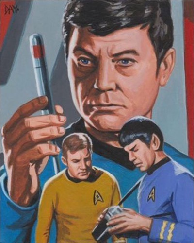 David Day AR Sketch - Kirk, Spock and McCoy