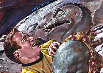 Norman Jim Faustino AR Sketch - Kirk and Gorn