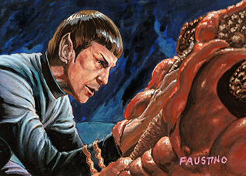 Norman Faustino Sketch - Spock and the Horta