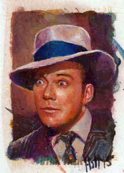 Charles Hall Sketch - Kirk as a Gangster
