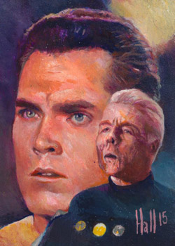 Charles Hall Sketch - Captain Christopher Pike