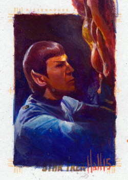 Charles Hall Sketch - Spock and Horta