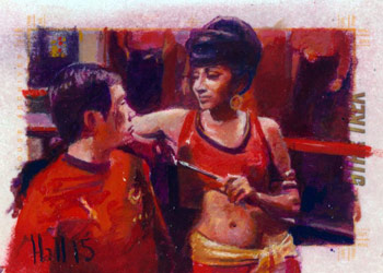 Charles Hall Sketch - Mirror Sulu and Uhura