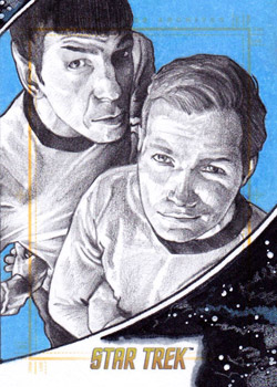Michael James Sketch - Kirk and Spock