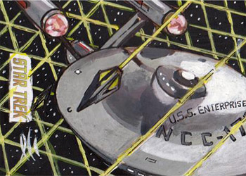 Lee Lightfoot Sketch - U.S.S. Enterprise and the Tholian Web