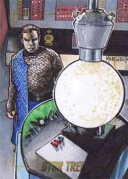 Warren Martineck Sketch - Kirk and Romulan Cloaking Device