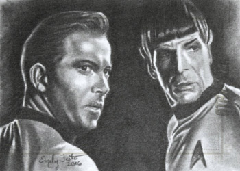 Emily Tester Sketch - Kirk and Spock