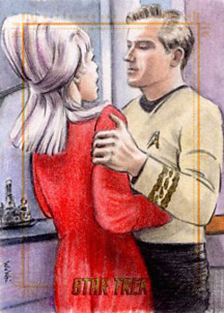 Wu Wei Sketch - Janice Rand and Kirk