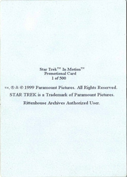 Reverse of Promo Card