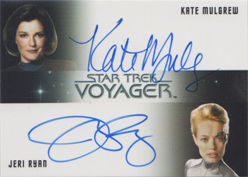 Kate Mulgrew & Jeri Ryan Dual Autograph Card