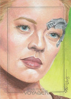 Kristin Allen Sketch - Seven of Nine