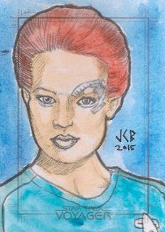 Jeffrey Benitez Sketch - Seven of Nine