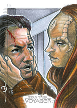 León Braojos Sketch - Chakotay and Seska