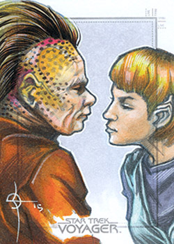 León Braojos Sketch - Neelix and Kes