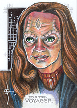 León Braojos Sketch - Seska as Cardassian