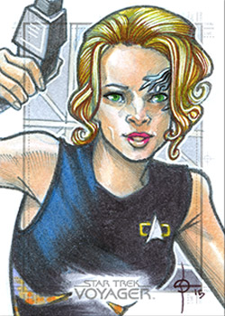 León Braojos Sketch - Seven of Nine