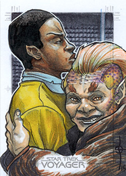 León Braojos Sketch - Tuvok and Neelix