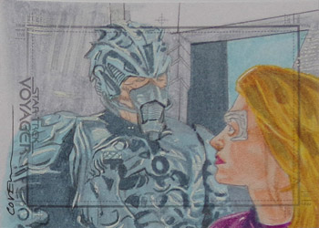 Roy Cover Sketch - Hirogen and Seven of Nine