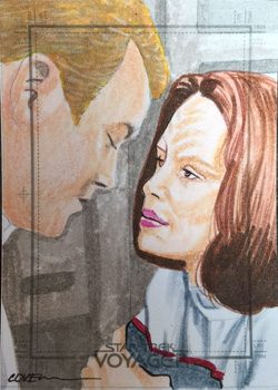 Roy Cover Sketch - Tom Paris and B'Elanna Torres