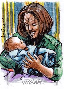 Daniel Gorman Sketch - B'Elanna Torres and Baby
