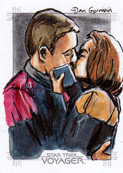 Daniel Gorman Sketch - Tom Paris and B'Elanna Torres