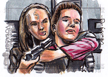 Daniel Gorman Sketch - Seska and Kathryn Janeway