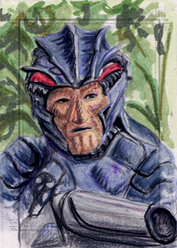 Laura Inglis Sketch - Hirogen Hunter