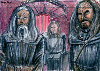 Laura Inglis Sketch - Three Klingons