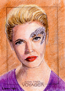Laura Inglis Sketch - Seven of Nine