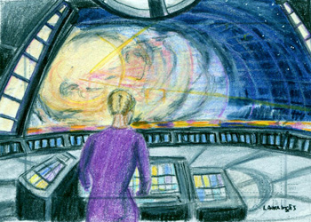 Laura Inglis Sketch - Seven of Nine in Astrometrics