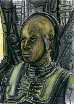 Laura Inglis Sketch - Tuvok as Borg
