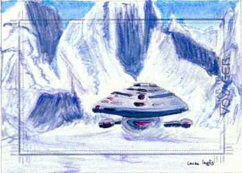 Laura Inglis Sketch - USS Voyager Crash Landing