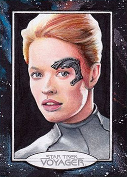 Michael James Sketch - Seven of Nine