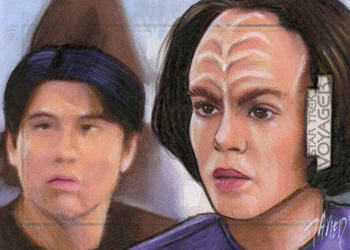 Javier Gonzalez Sketch - Harry Kim and B'Elanna