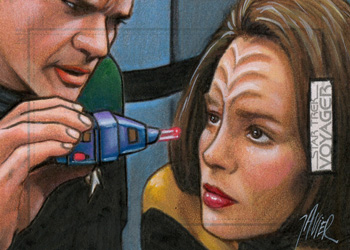 Javier Gonzalez Sketch - The Doctor and B'Elanna