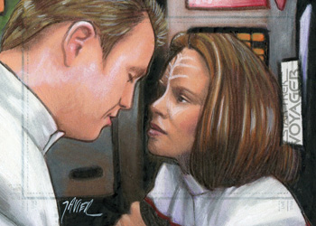 Javier Gonzalez Sketch - Tom Paris and B'Elanna