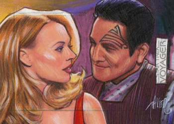 Javier Gonzalez Sketch - Seven of Nine and Chakotay