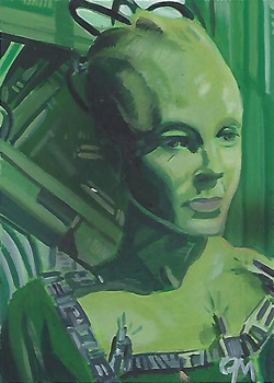 Jeff Mallinson Sketch - Borg Queen