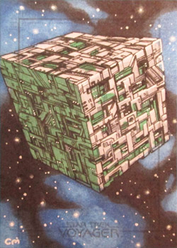 Chris Meeks Sketch - Borg Cube