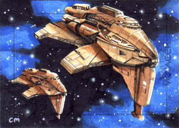 Chris Meeks Sketch - Kazon Ships