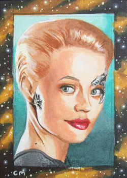 Chris Meeks Sketch - Seven of Nine