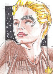 Gener Pedrina Sketch - Seven of Nine