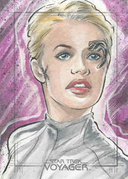 Judit Tondora Sketch - Seven of Nine