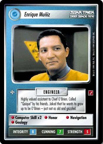 Star Trek CCG Blaze of Glory Chief O/'Brien