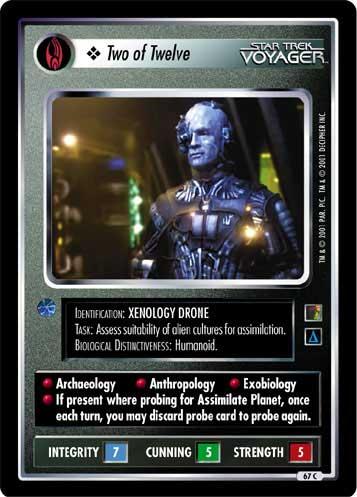 STAR TREK CCG THE BORG RARE CARD ANKARI SPIRITS