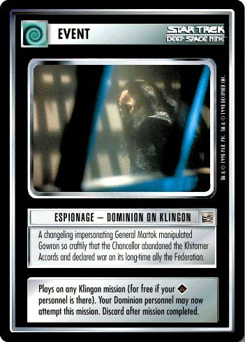 Star Trek CCG DOM Dominion Goran/'Agar