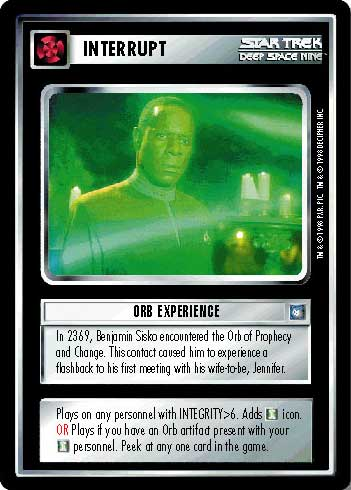 Star Trek CCG DS9 Deep Space 9 Orb Negotations