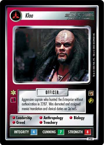 STAR TREK CCG THE MOTION PICTURES RARE CARD CAMP KHITOMER