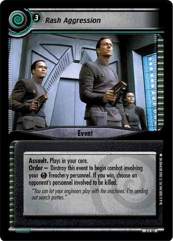 Star Trek CCG 2E Energize Kargan Rash Captain 2R139