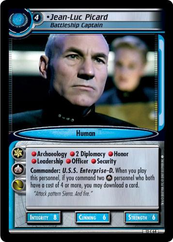 13R110 Star Trek CCG 2E In A Mirror Darkly Maximillian Forrest Confident Capt